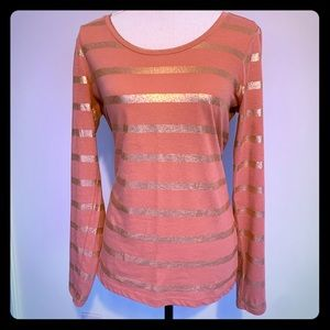LOFT striped long sleeve top.